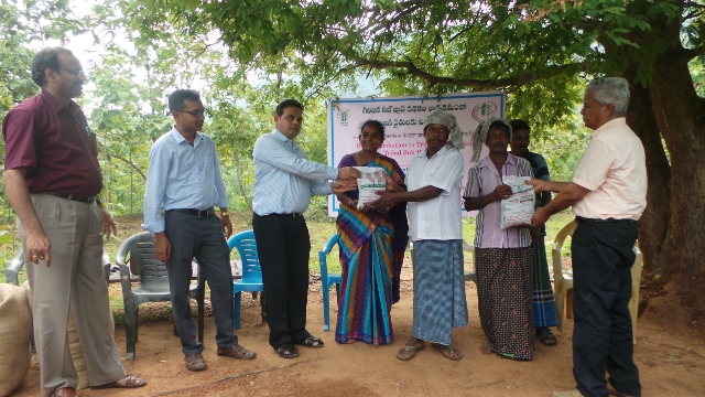 Distribution of seeds to farmers